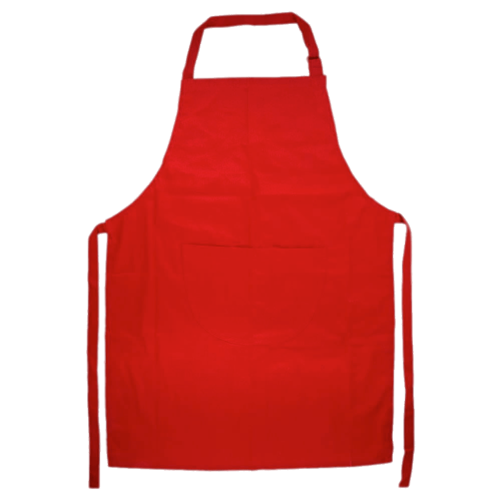 Red Apron transparent PNG.