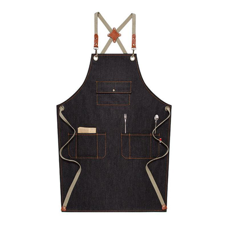 Personalized Work Apron Denim Apron Custom Logo Apron Chef Apron Florist  Apron Cross Back Apron M67D1.