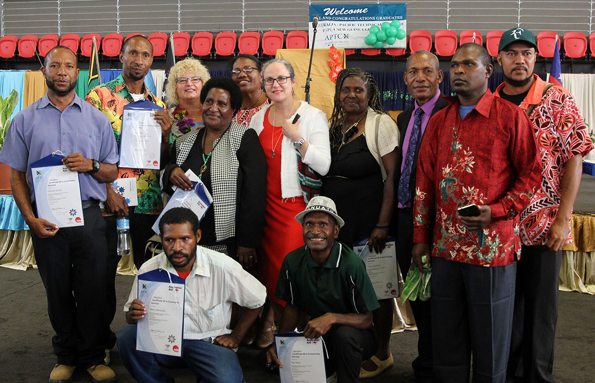 APTC students graduate in Papua New Guinea.