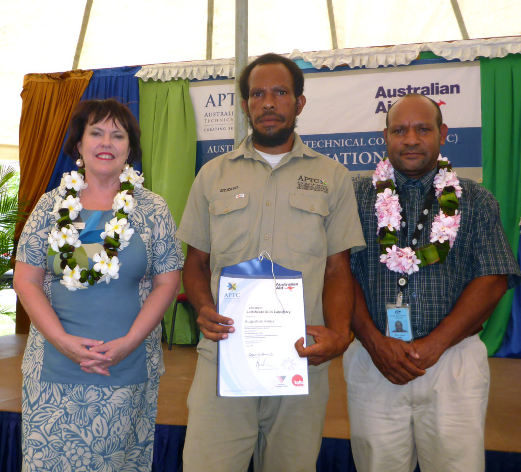 APTC produces qualified skilled workers for PNG.