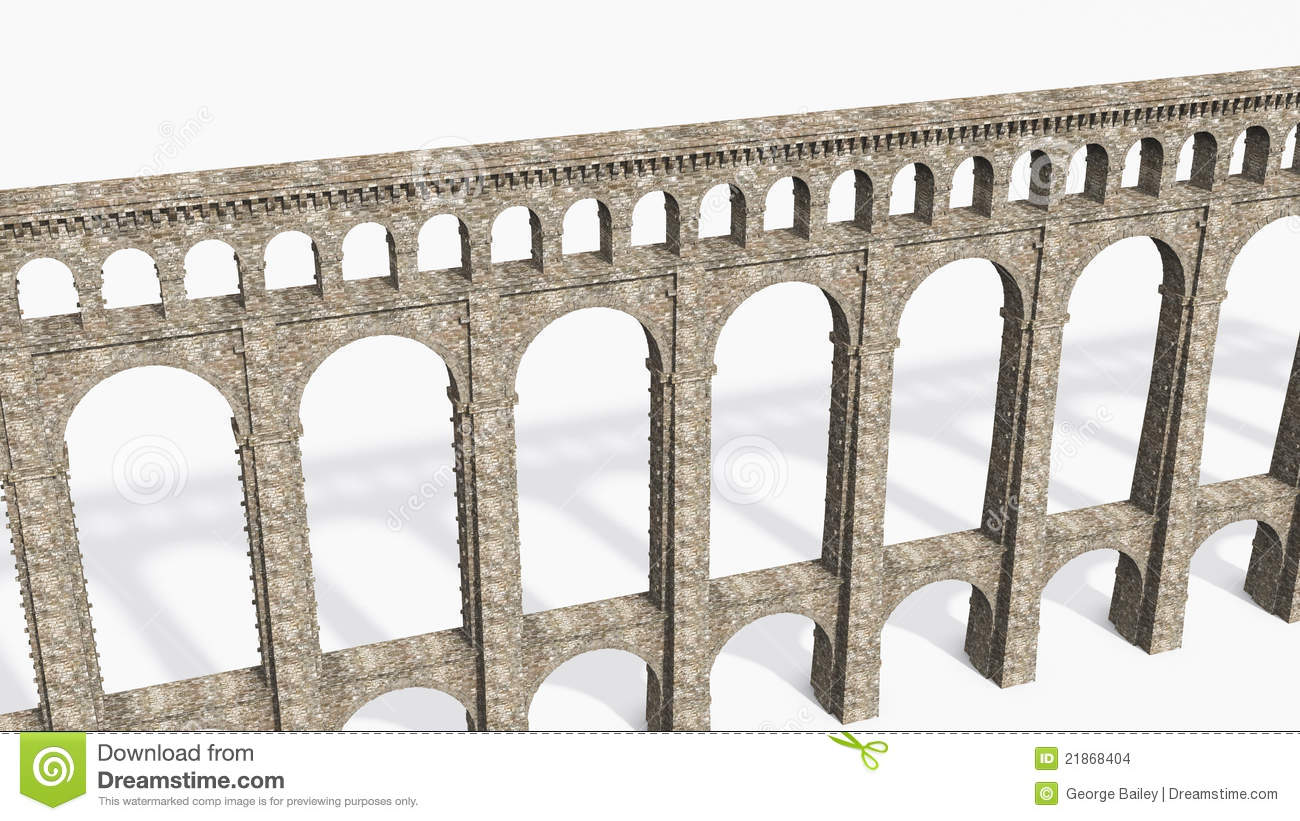 Aqueduct Stock Illustrations.
