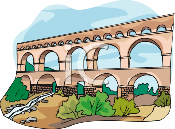 Aqueduct at Pont du Gard, France.