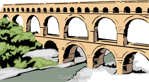 Roman aqueduct clipart - Clipground
