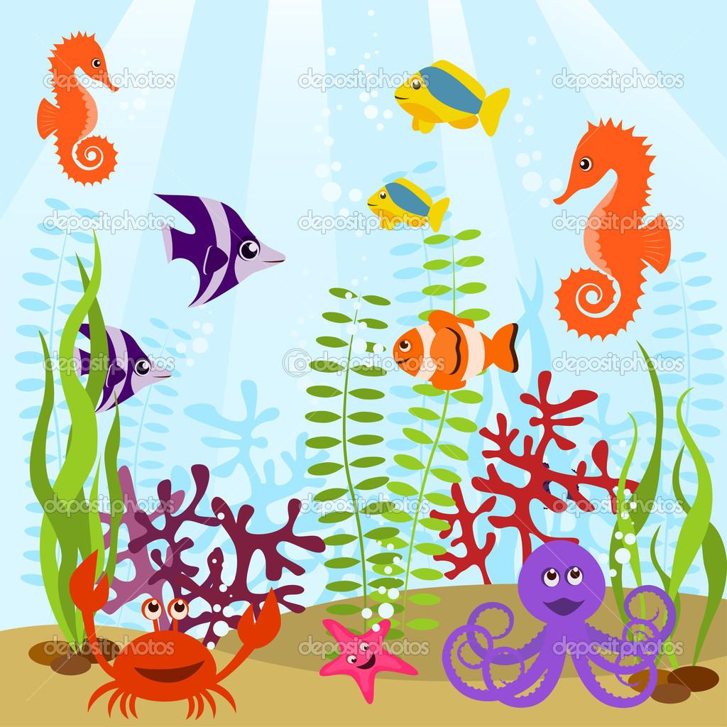 Aquarium live clipart.