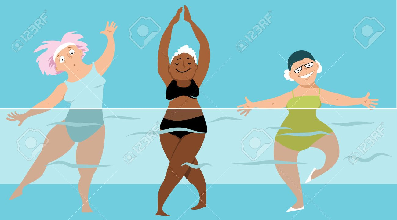 Water aerobics clipart 2 » Clipart Station.