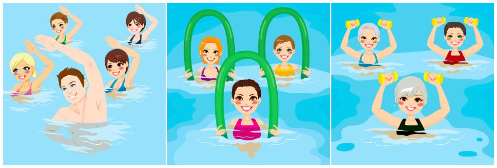 Aqua Fitness Clipart.