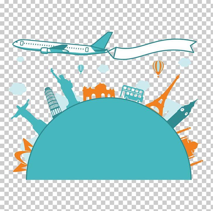 Airplane Travel Flight Towel PNG, Clipart, Airplane, Aqua.