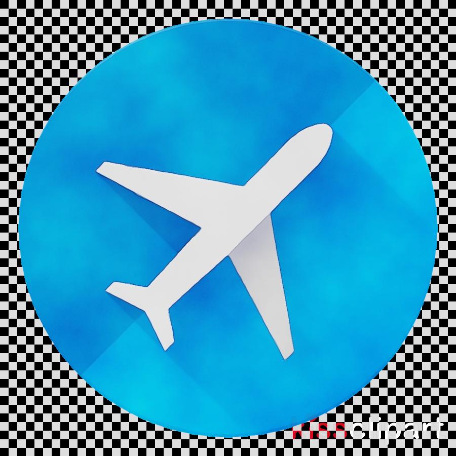 blue aqua turquoise airplane azure clipart.