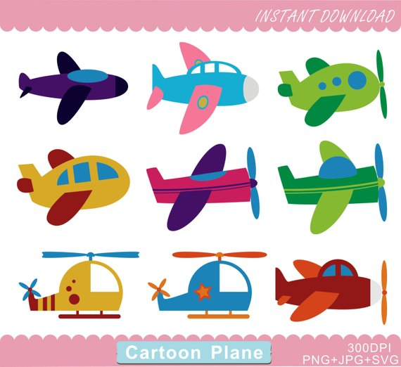 Plane Clipart, Airplane Clipart, Plane PNG, Helicopter.