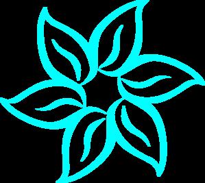 Aqua Flower Clipart.