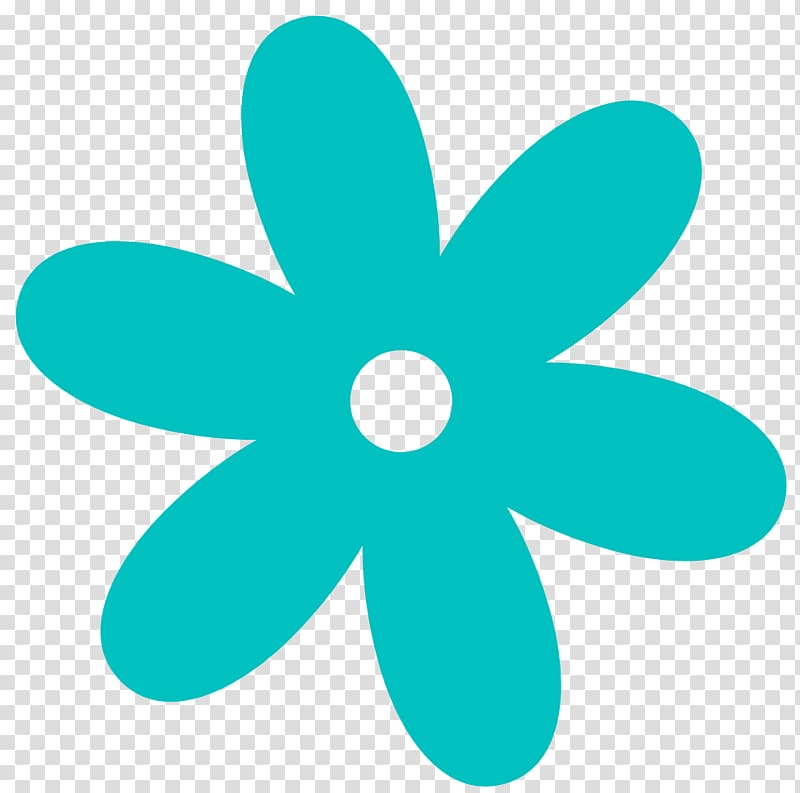 Flower Free content , Turquoise Flower transparent.