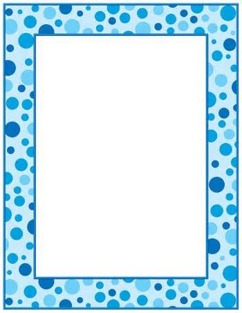 free printable baby boy blue border.