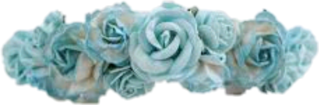 Blue flower crown png, Blue flower crown png Transparent.