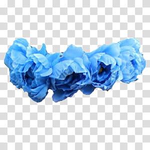 Flower Crowns, blue flowers headdress art transparent.