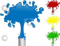 Aqua Paint Splatter Clip Art.