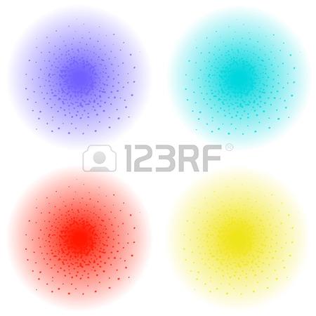 Paint Spray Effect. Purple, Aqua, Red, Yellow Color Splashes.