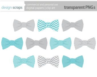 bow tie clip art graphics, baby boy ties digital clipart.