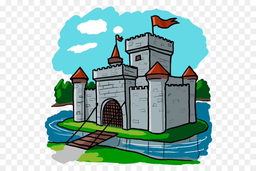 Cartoon Castle clipart.