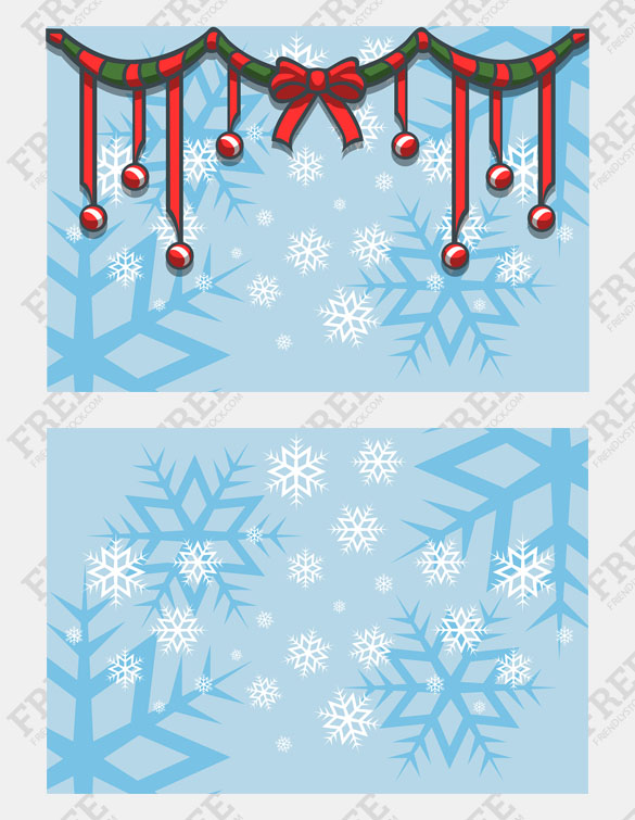 Free Graphic] Christmas Background With Snowflakes And.