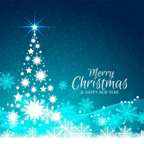 Abstract Merry Christmas background with tree design.