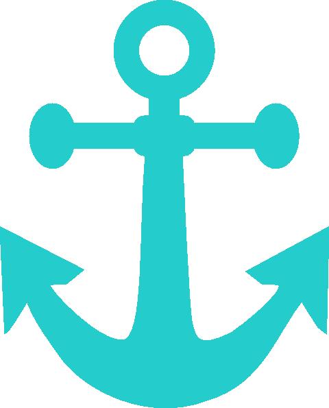 Aqua Anchor Clipart.