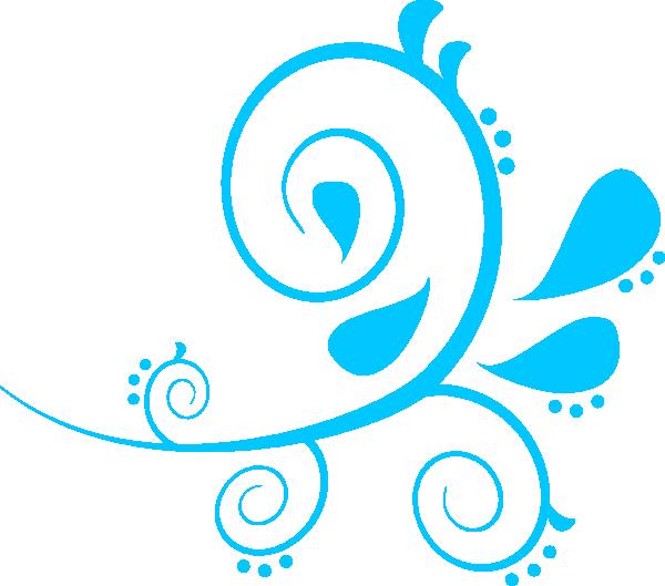 Swirl Paisley Aqua Clip Art at Clker.com.