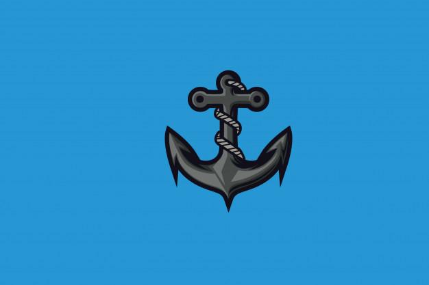 Aqua anchor clip.