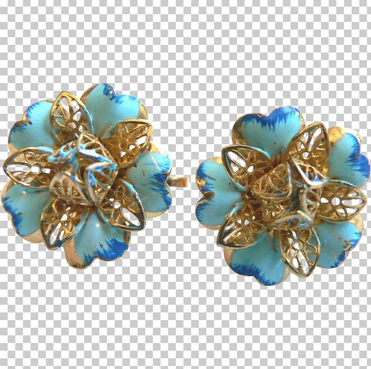 Turquoise Earring Butterfly Bead Filigree PNG, Clipart.