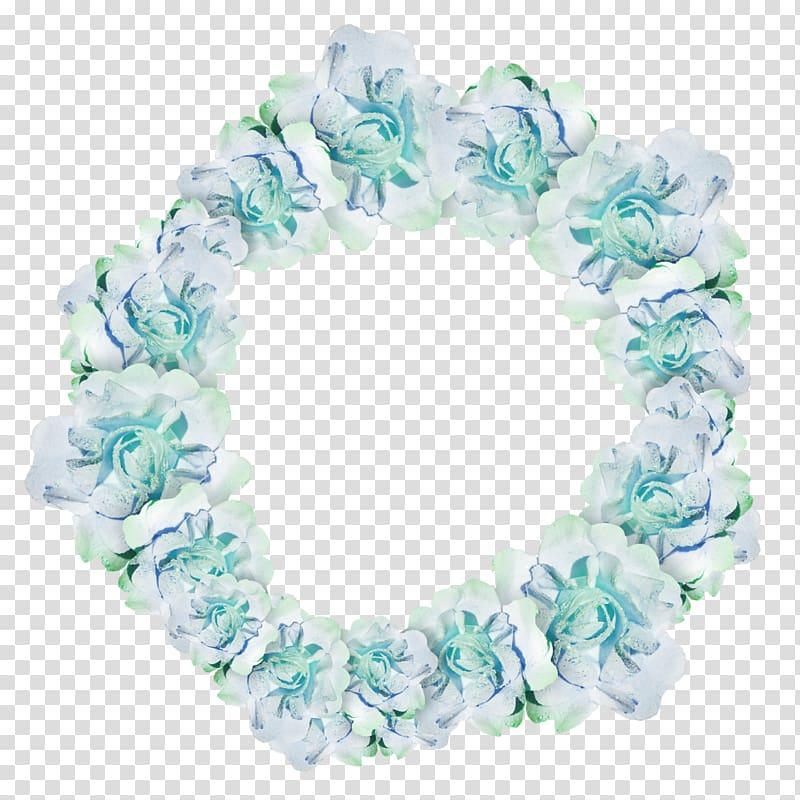 Garland Wreath Flower Blue, garland transparent background.