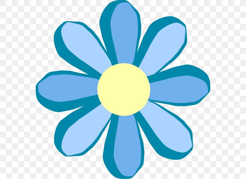 Flower Yellow Clip Art, PNG, 582x599px, Flower, Aqua, Blue.