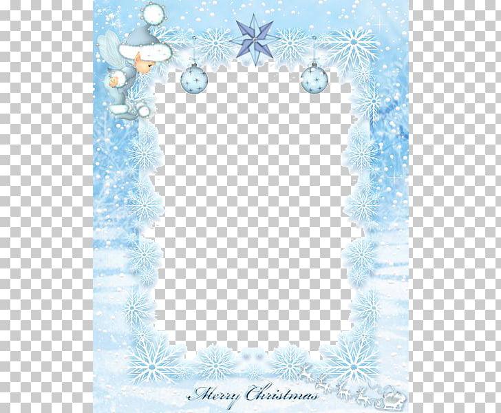 Santa Claus Christmas , Aqua Border Frame File PNG clipart.