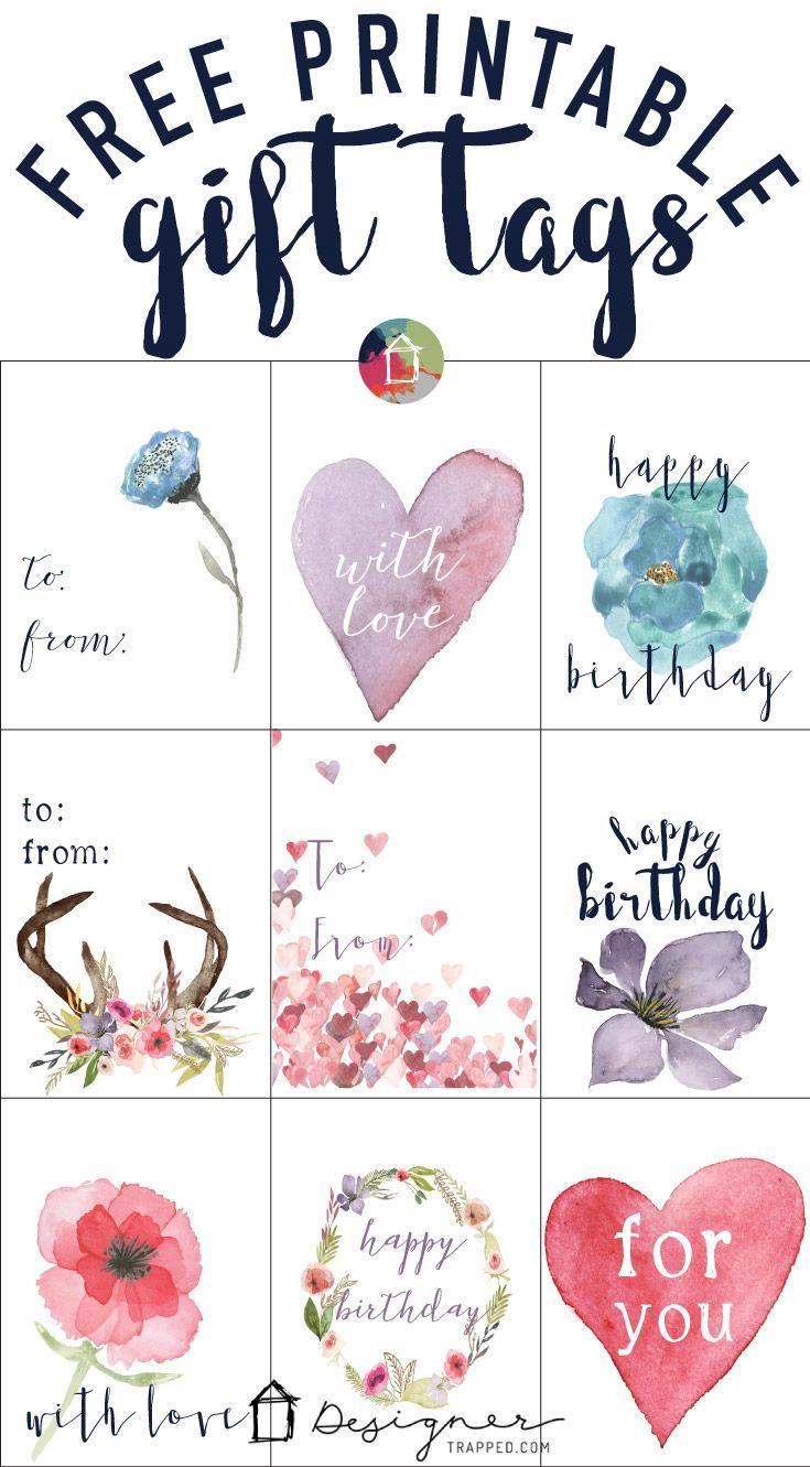 FREE Printable Gift Tags for Birthdays.