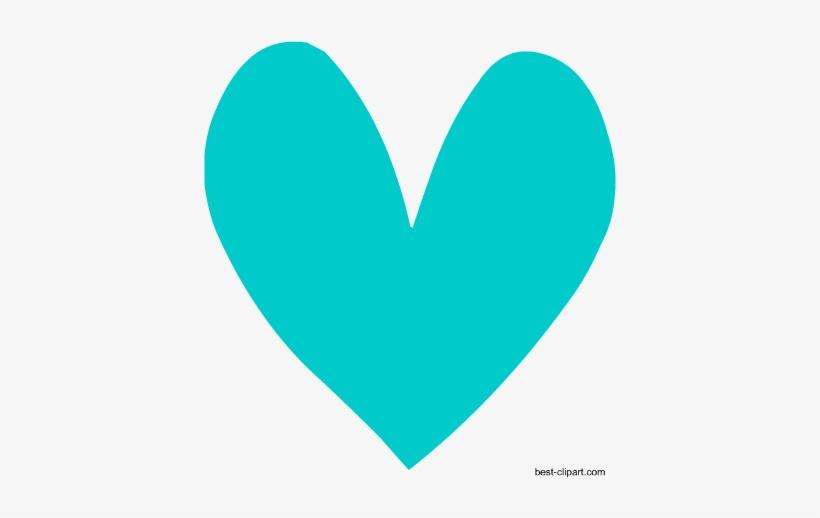 Aqua Heart, Free Clipart.