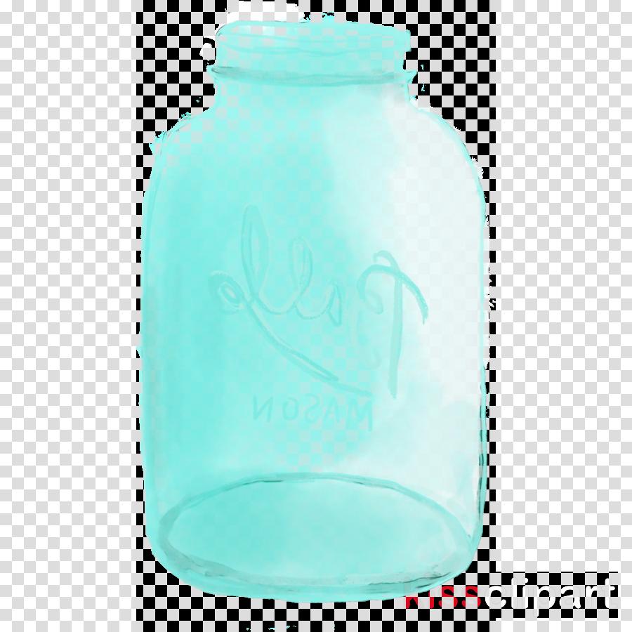 aqua mason jar food storage containers turquoise teal.