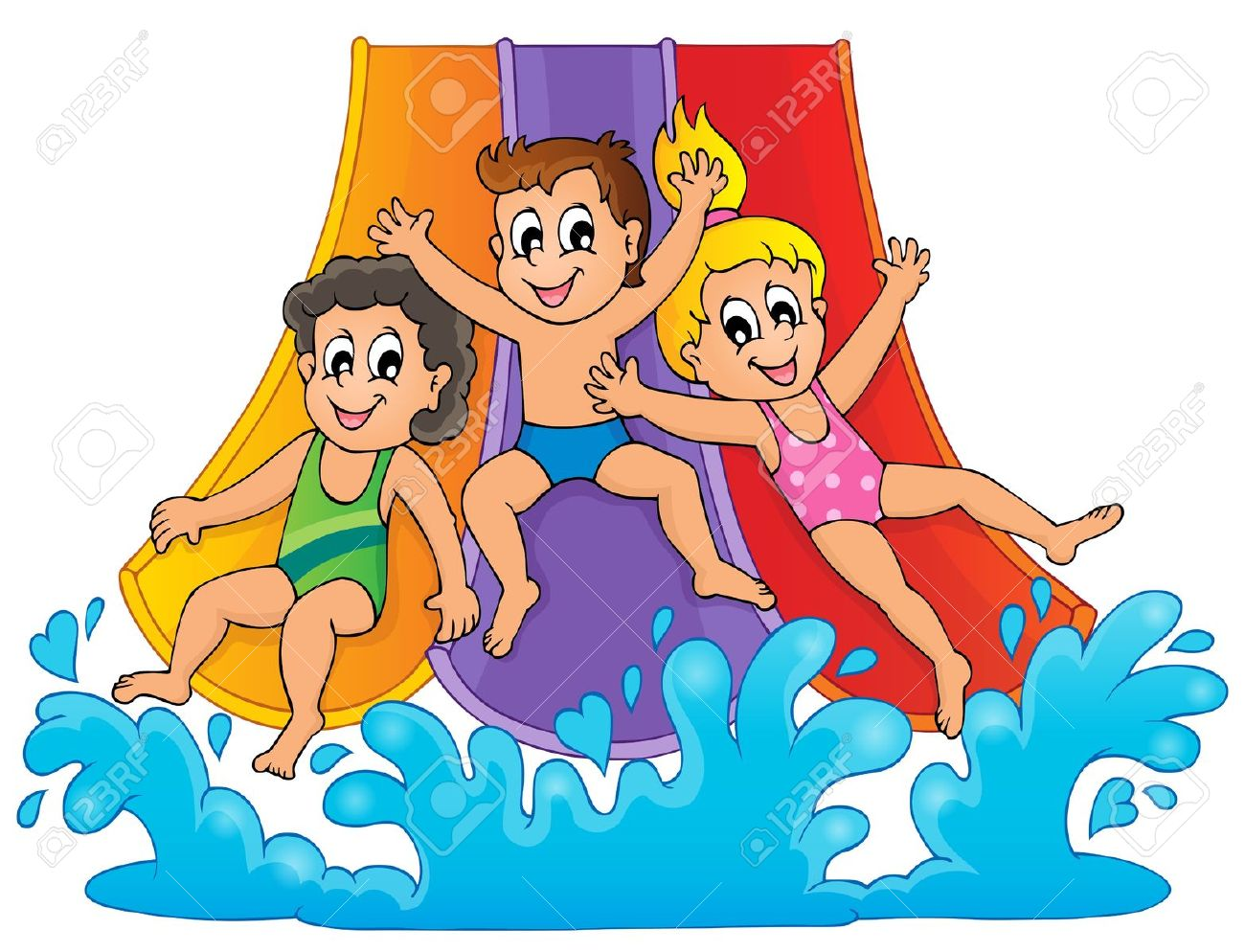 Image With Aqua Park Theme Royalty Free Cliparts, Vectors, And.