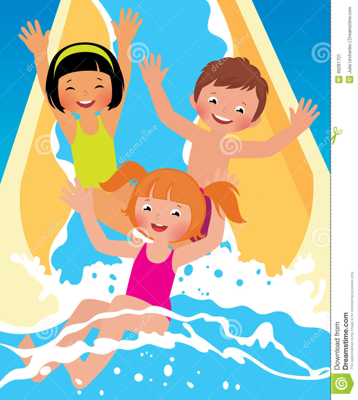 Family Water Park Clip Art.