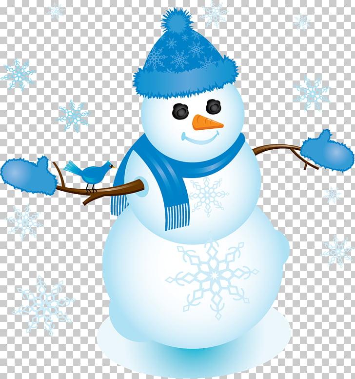 Frosty the Snowman Blue , snowman PNG clipart.