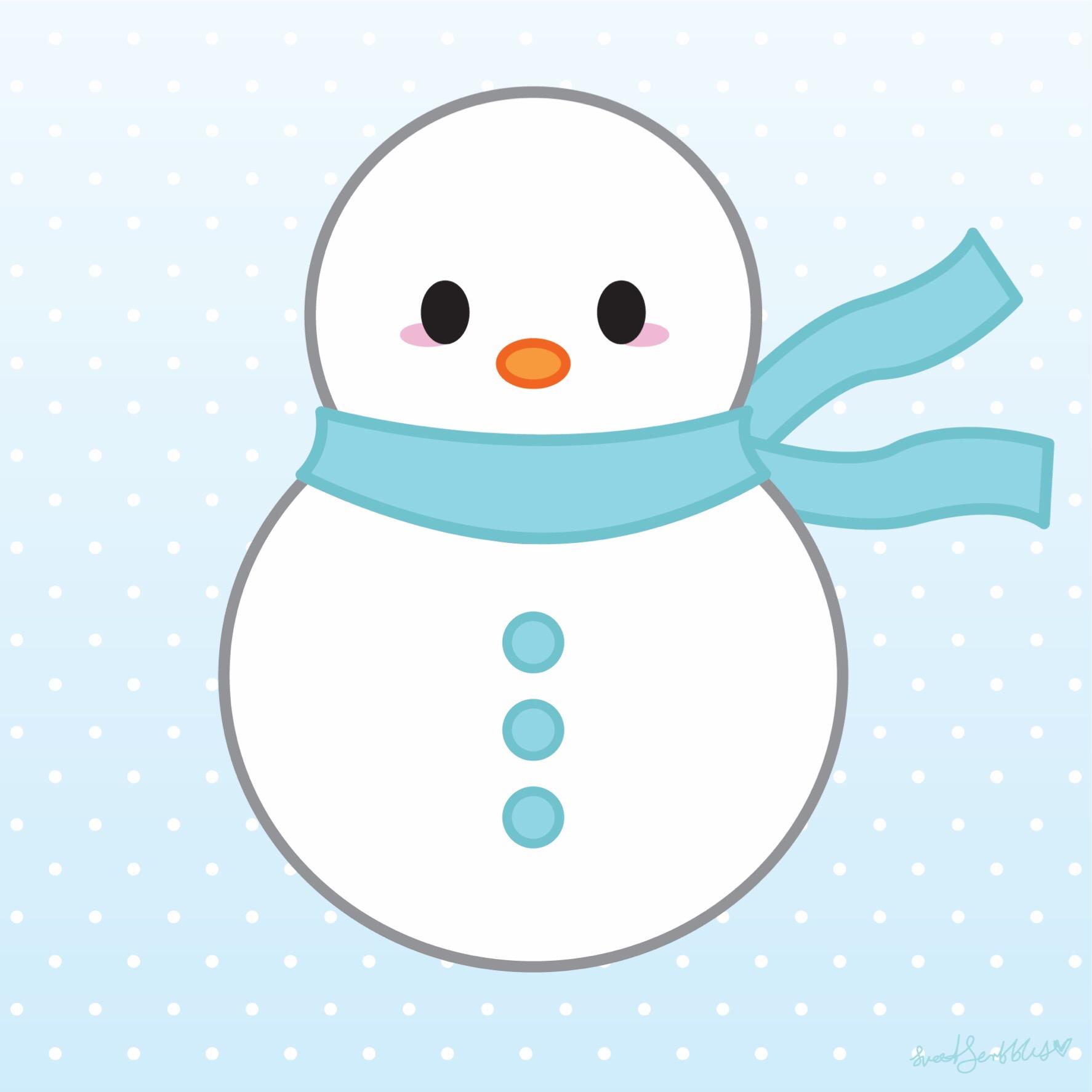 Chubby Snowman Clipart.