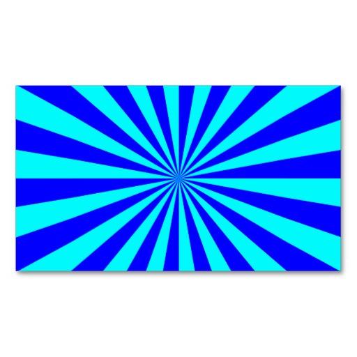 Aqua Blue Starburst Pattern Business Card Template.