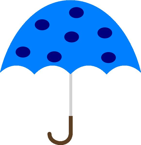 Polka Dot Umbrella clip art.