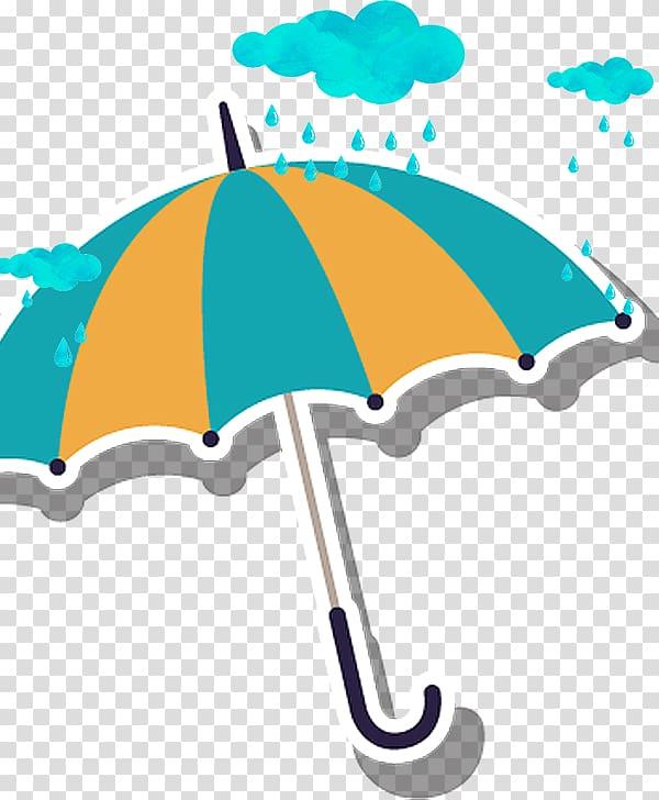 Cartoon Rain, umbrella transparent background PNG clipart.