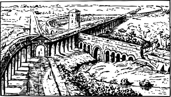 Roman Aqueducts Clip Art at Clker.com.