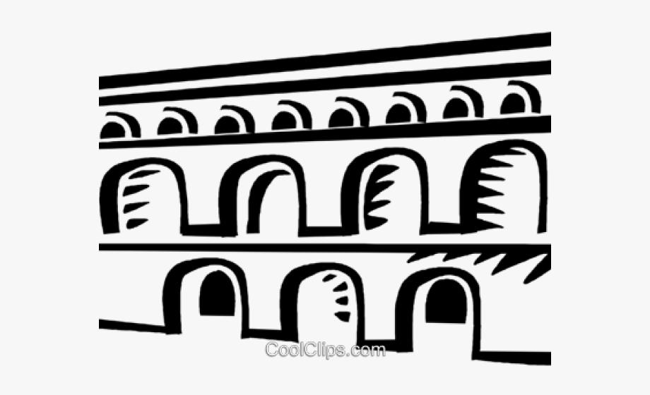 Aqueduct Clipart Ancient Roman Aqueduct.