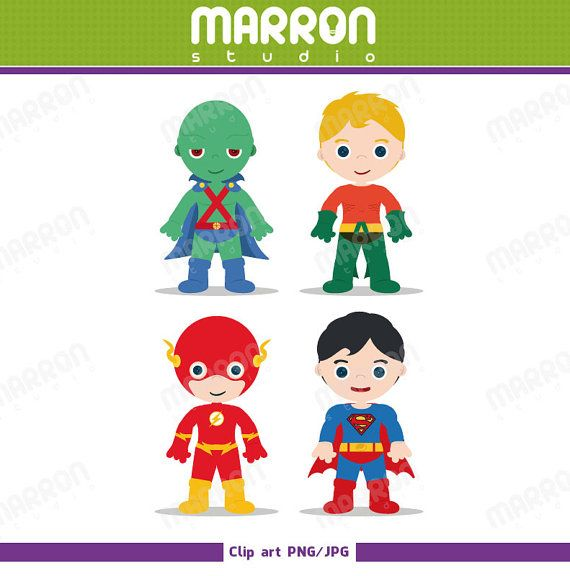 Superhero Inspired Justice League set Martian Manhunter, Aquaman.