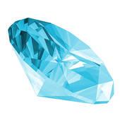 3D Aquamarine Gems Isolated Stock Illustrations.