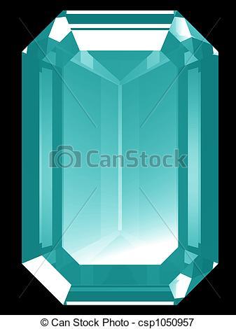 Stock Illustrations of 3d Aquamarine.