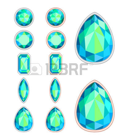 693 Aquamarine Gemstone Stock Vector Illustration And Royalty Free.