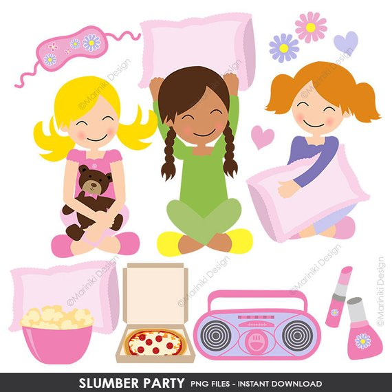 Adult slumber party clipart clipart images gallery for free.