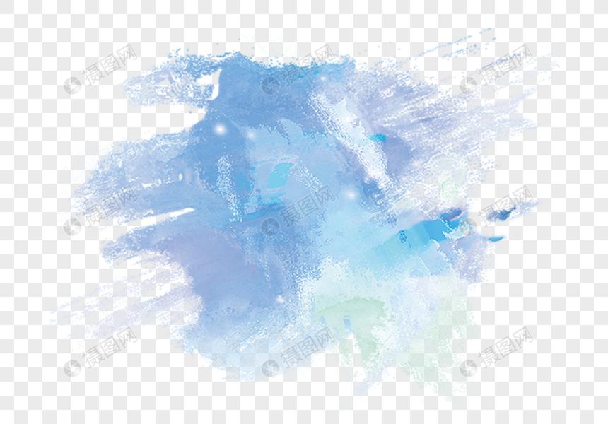 sombreamento aquarela azul Imagem Grátis_Gráficos Número.