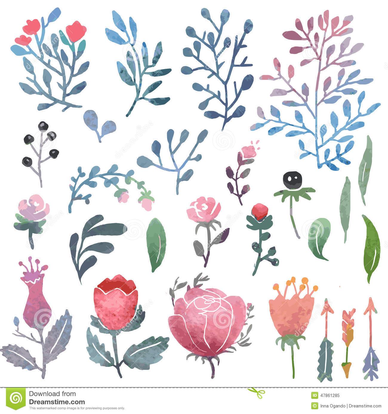 Clipart (images Graphiques) De Nature D'aquarelle Illustration de.